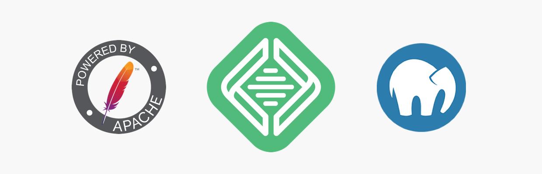 Logos des logiciels de serveur local