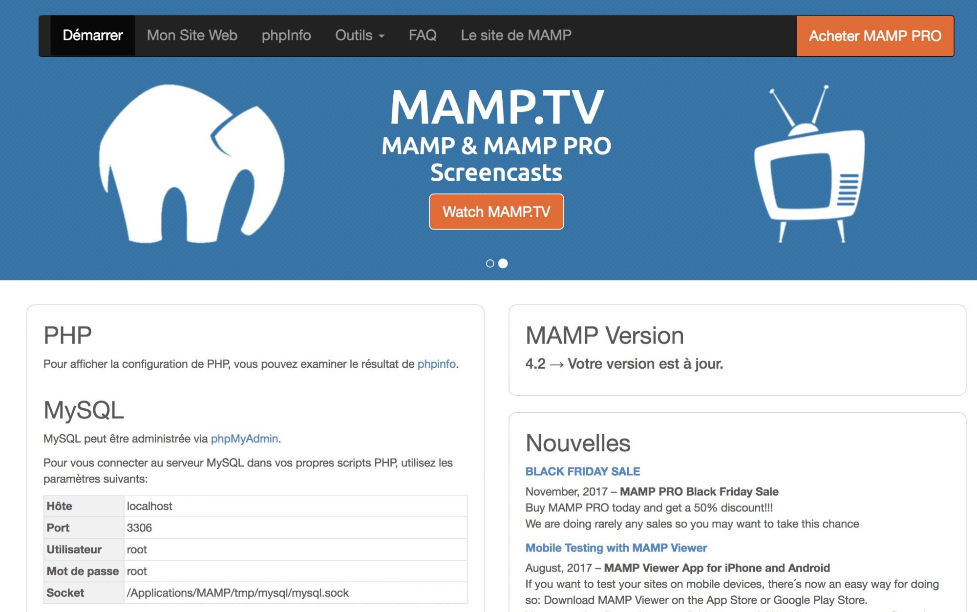 Alternative : un serveur local Mamp - Capitaine WP