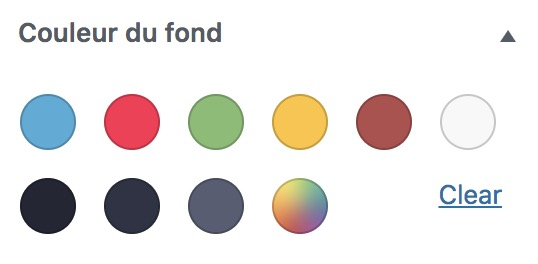 Palette de couleur personnalisée