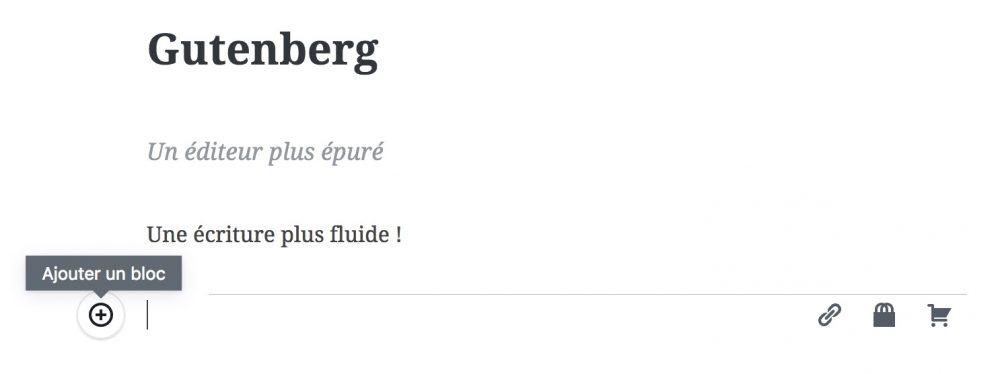 Gutenberg et son interface épurée