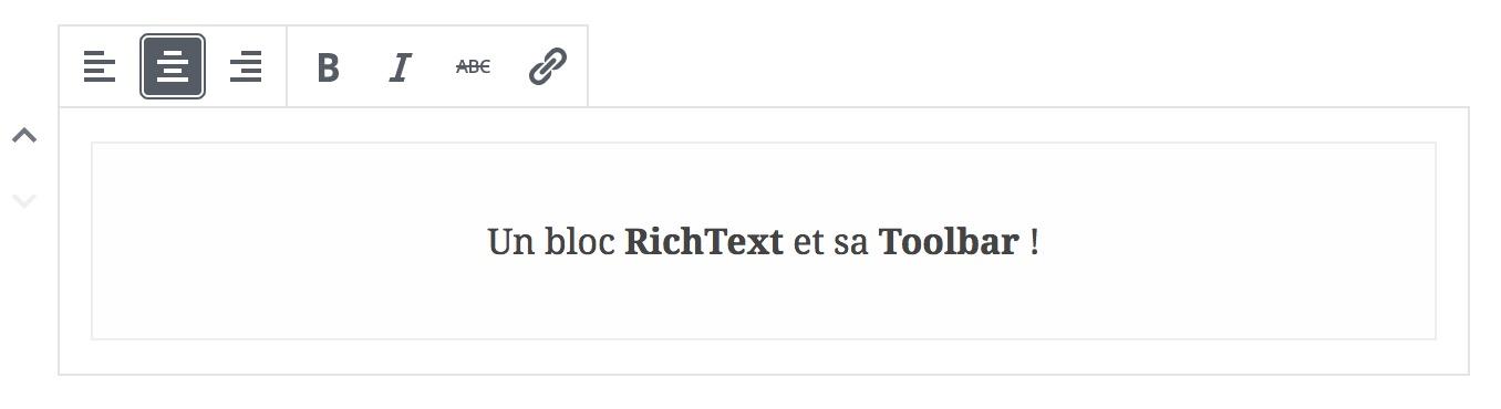 Le composant RichText et sa Toolbar