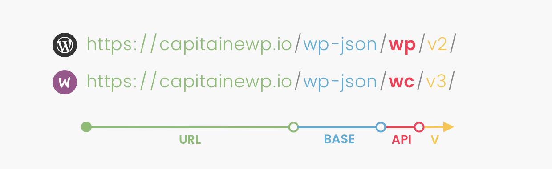 Les URL par défaut pour l'API REST de WordPress
