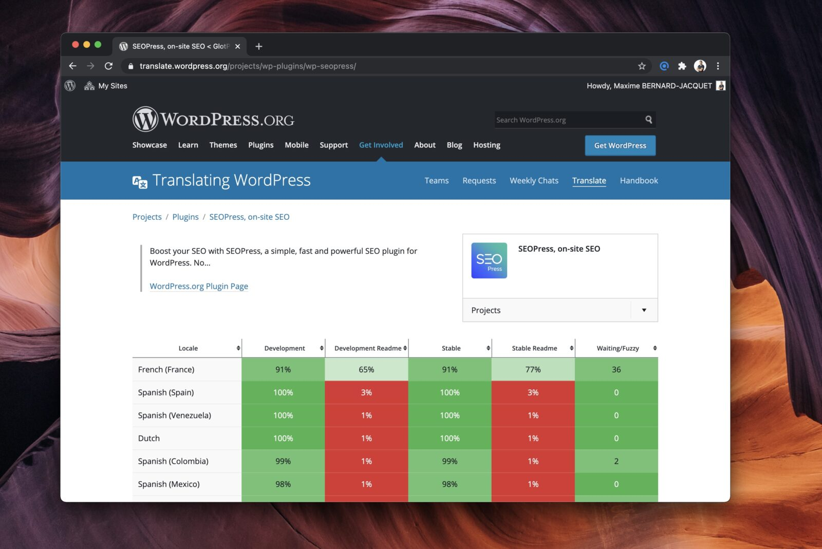 L'interface pour choisir la langue à traduire dans votre extension.