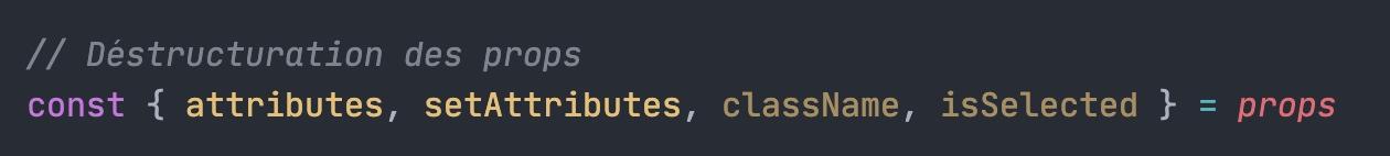 extraction de variables JS. 2 ne sont pas utilisées et apparaissent plus foncées